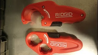 Абалденные труборезы для пластиковых канализационных труб RIDGID (Риджит). Обзор на инструмент.