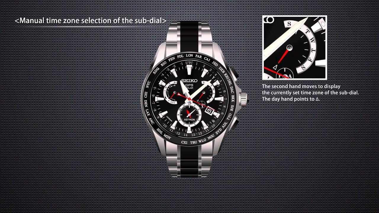 Seiko Astron Dual Time Manual Time Zone Sub Dial Youtube