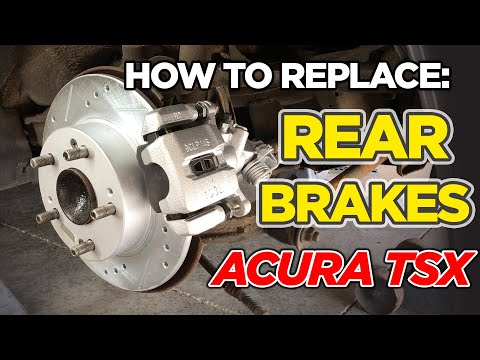 How to: Replace Rear Brakes: Caliper, Rotor, Brake Pads – Acura TSX 2006