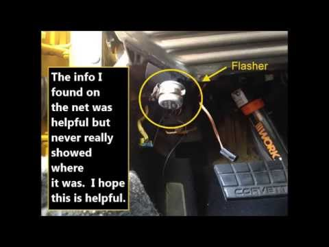 1993 C4 Corvette Flasher Youtube
