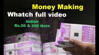 New 50,200 Indian Note Bundle |Money making machine