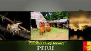 Pitt State Study Abroad - Peru 2012