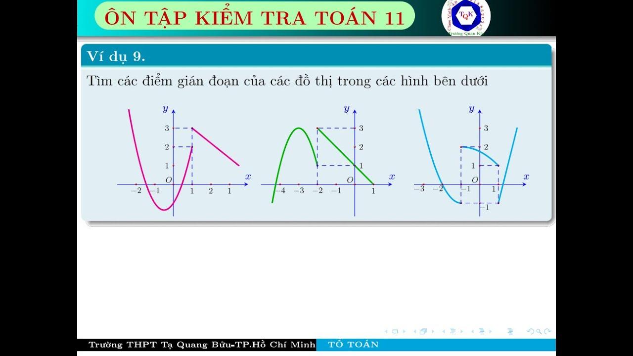 Bài tập ôn cơ bản về Giới hạn-Hàm số Liên Tục-Quan Hệ Vuông góc-Thầy Trương Quan Kía