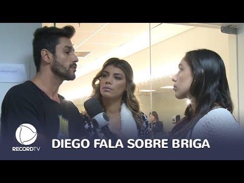 """""""Não vou ficar escutando desaforo"""", diz Diego sobre briga no Power Couple"""