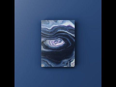 11x14 Space Themed Pour Using DecoArt Satin Acrylic Fluid Art