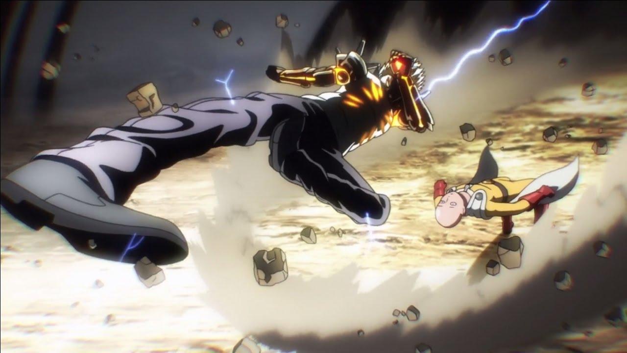 One Punch Man - Saitama vs Genos - YouTube
