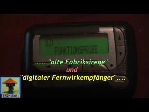 Probealarm alte Sirene & digitaler Fernwirkempfänger