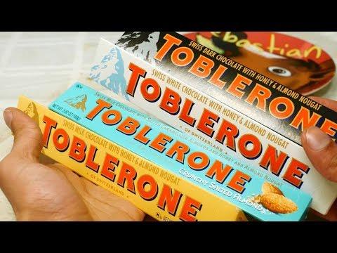 ULTIMATE TOBLERONE TASTE TEST  Dark, White, Original, Salted Almond Review. [Sir Sebastian]