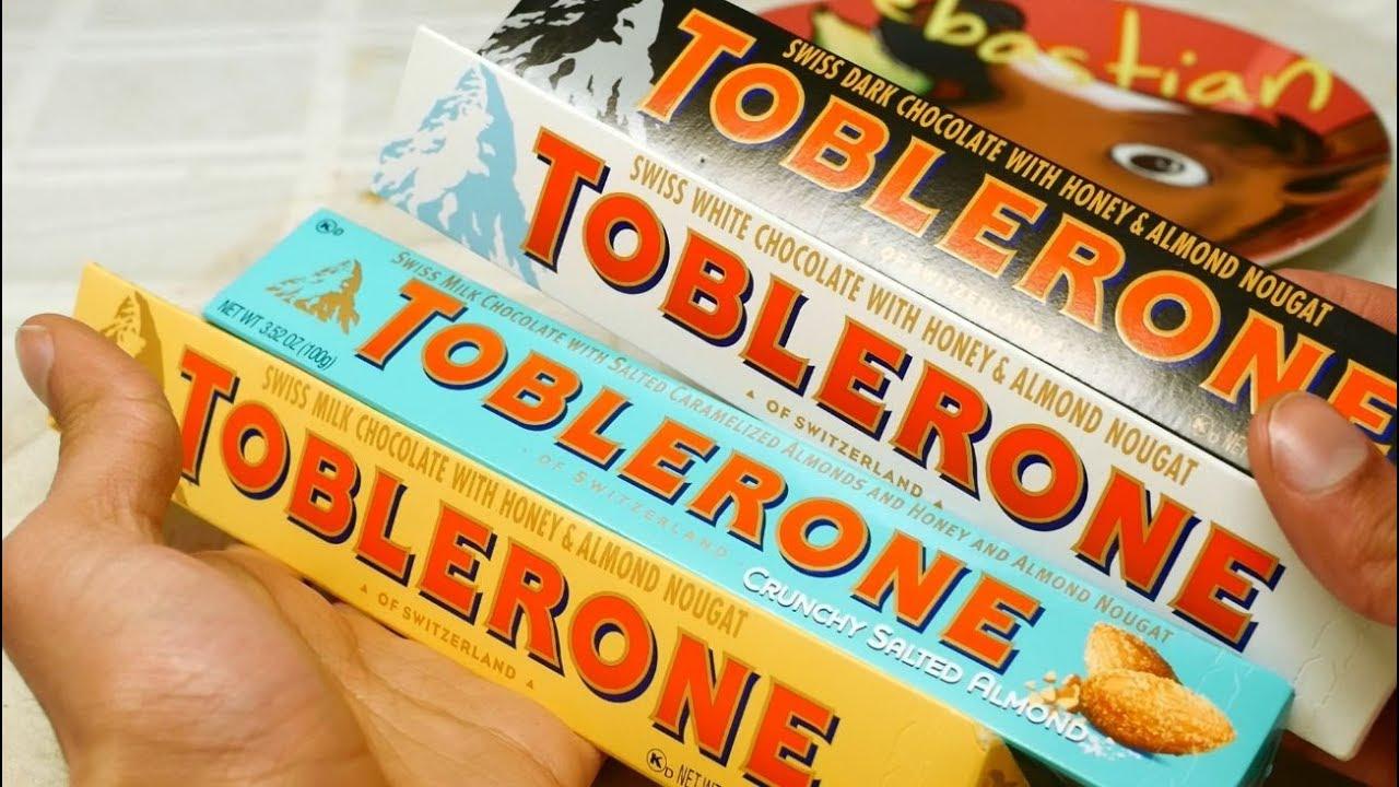 Ultimate Toblerone Taste Test Dark White Original Salted Almond Review Sir Sebastian