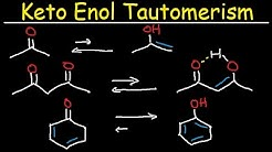Keto Enol Tautomerism - Acid & Base Reaction Mechanism, Tautomerization, Organic Chemistry