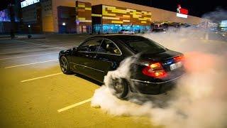 Mercedes Benz  W209 CLK500 burrnout Уничтожение резины clk500