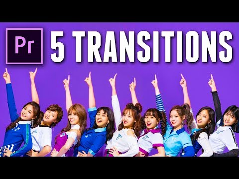 5 TRANSITIONS from TWICE in PREMIERE PRO