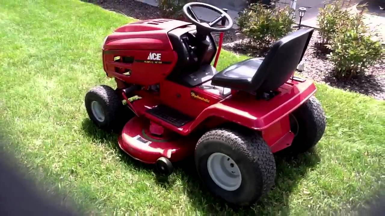 Update On My Free Ace Mtd Riding Mower Youtube