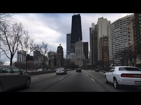 Driving into Downtown – Lake Shore Drive North to South - Chicago Illinois