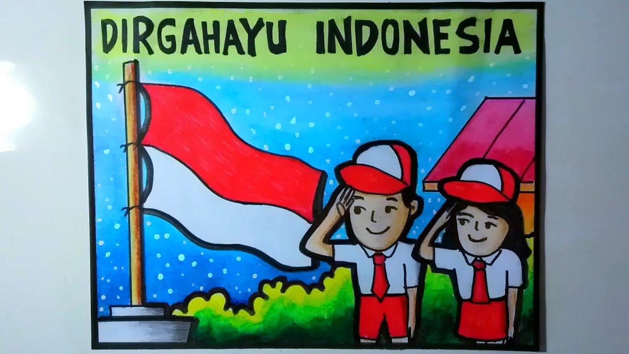 Poster Kemerdekaan Yang Mudah Digambar Poster 17 Agustus Youtube