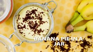 Banana Pie in Jar