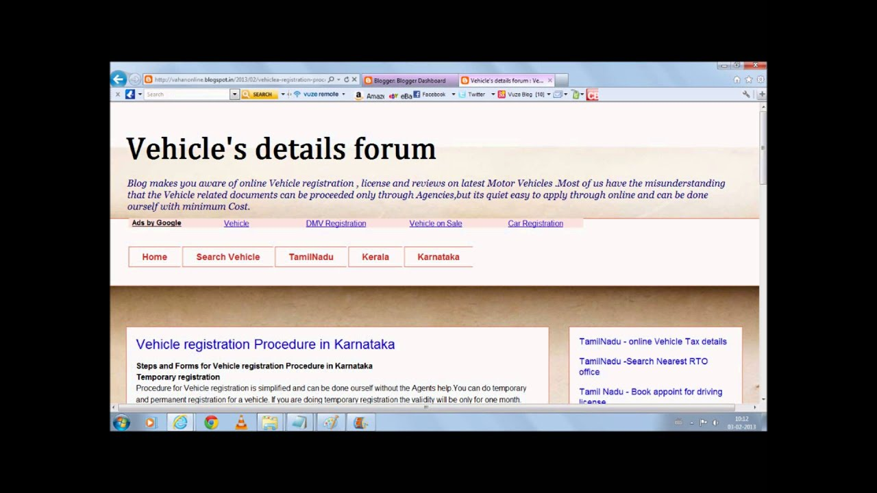 Vehicle registration and license procedure details in tamil nadu vehicle registration and license procedure details in tamil nadu kerala karnatakaanthrapradesh youtube xflitez Images