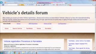 vehicle registration and license procedure details in Tamil Nadu, Kerala , Karnataka,AnthraPradesh