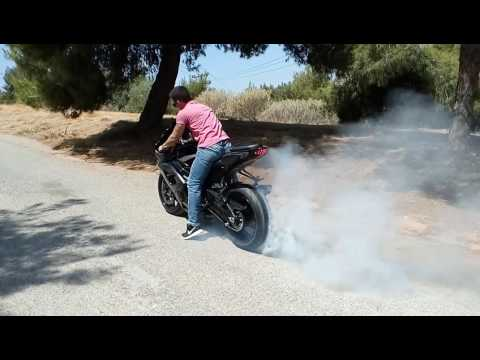 Gsxr 1000 burn out (Greece)