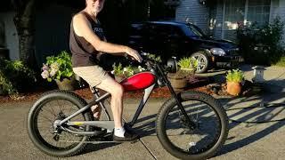 Civi Cheetah Fat Tire Electric Bike, New! Accessories Added...