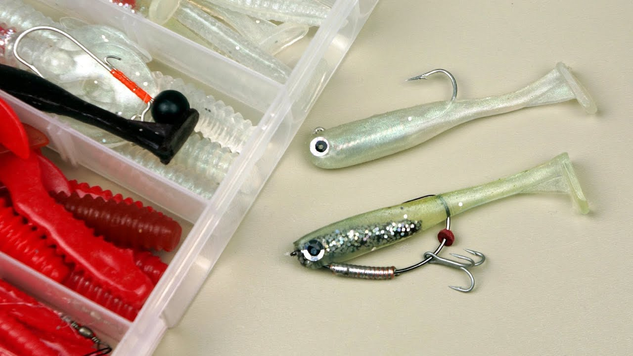 making paddle tail soft plastic fishing lures part 2 - youtube, Soft Baits