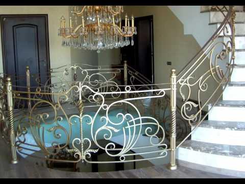 Кованые перила и лестницы – примеры изделий художественной ковки – 8 (499) 322-49-51