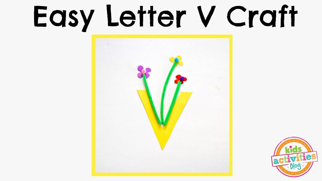 Letter V Craft For Preschool