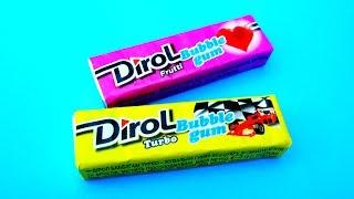 Dirol Bubble gum Turbo. Огляд жуйки Дірол Бабл гам Турбо. 90 е