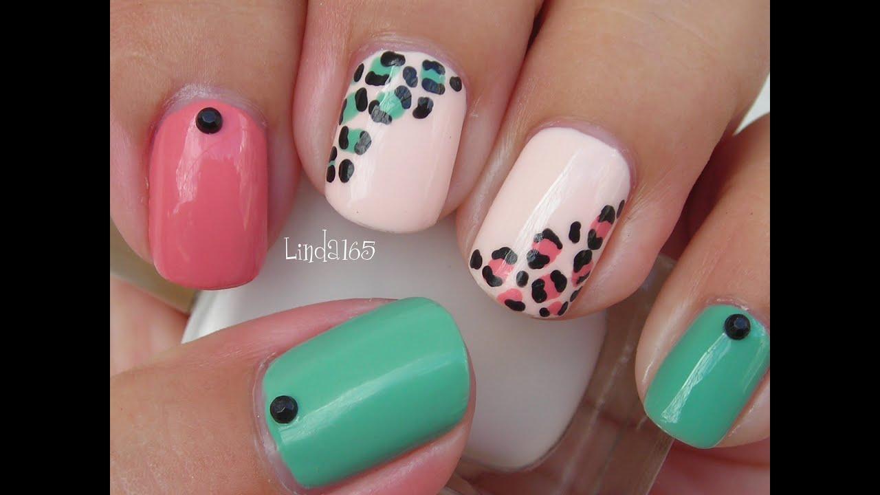 Nail Art - Easy and Girly Leopard Nails - Decoracion de ...