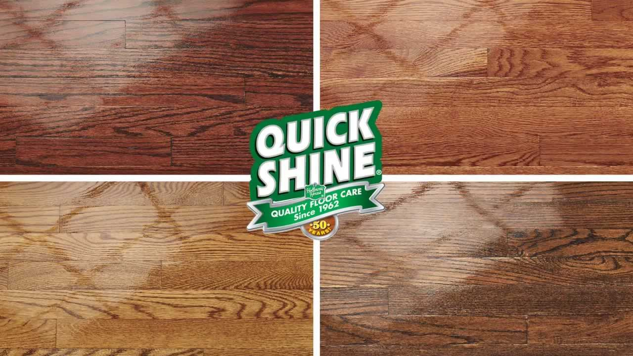 Quick Shine Hardwood Floor Luster Youtube