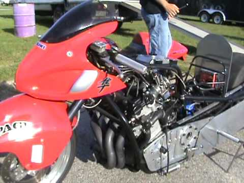 7 second Nitrous Hayabusa drag bike built by Dave Page ...