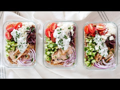 Mediterranean Chicken Farro Bowls | Healthy Meal Prep Idea