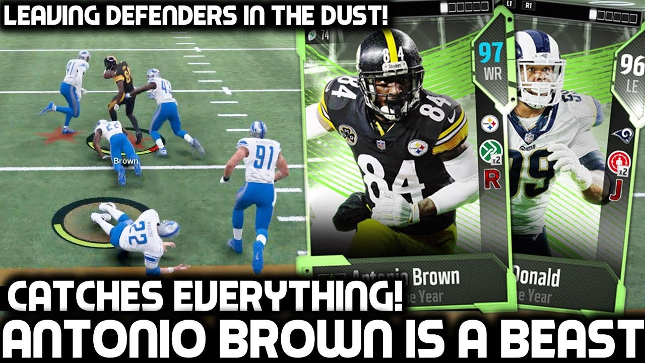 ANTONIO BROWN IS ELECTRIFYING! BEST WIDE RECEIVER IN THE LEAGUE! Madden 18 Ultimate Team