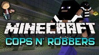 Minecraft: CRAZY COPS N'ROBBERS 3.0! Mini-Game w/Mitch & Friends!