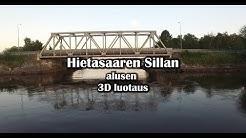 Toppilansalmi - Hietasaaren Sillan alusen 3D luotaus