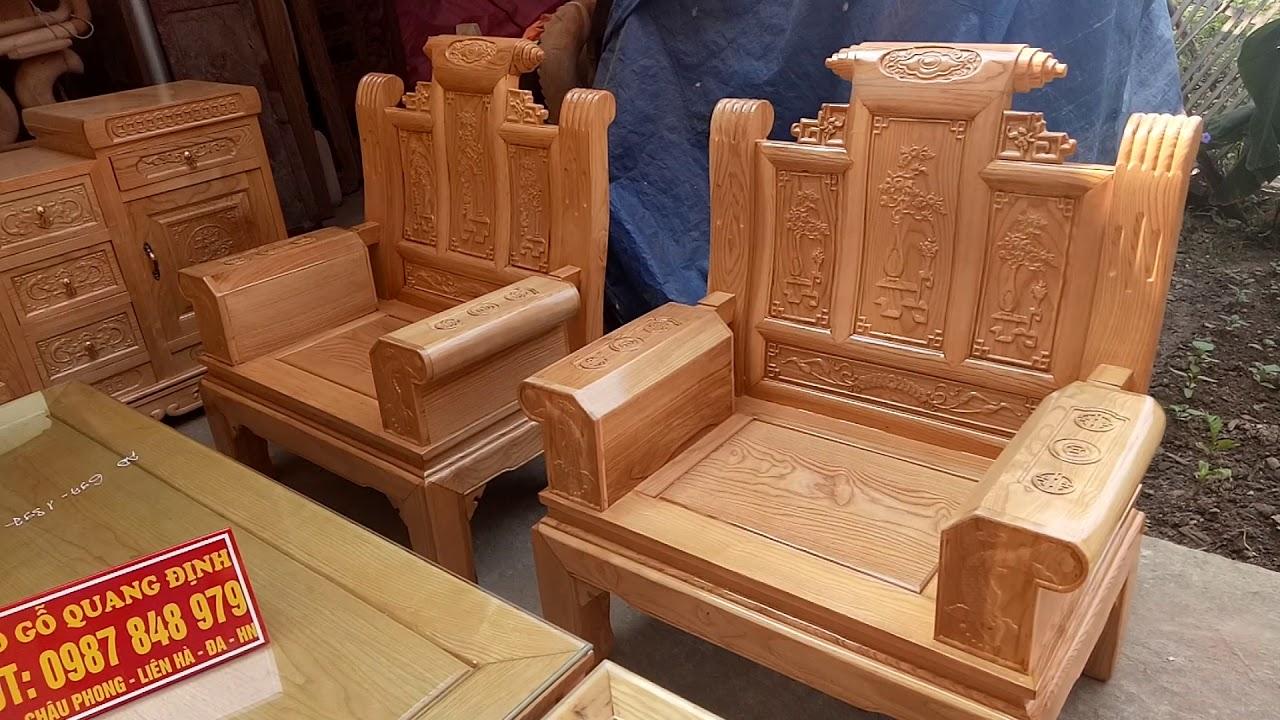 Chọn bộ sp bàn ghế và kệ tivi gỗ sồi Nga.