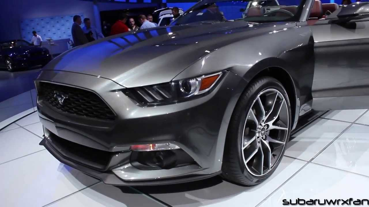 2015 mustang convertible design and discussion detroit 2014 youtube