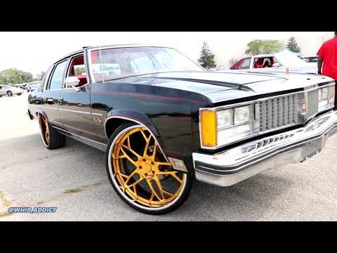 WhipAddict: 79' Oldsmobile Ninety Eight Regency on Gold SD Forged 26s with All Red Interior!