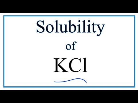 Is KCl Soluble Or Insoluble In Water?