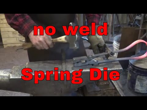 Making a tenon spring die without welding