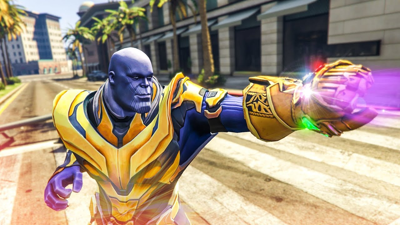 AMAZING GTA 5 THANOS MOD! - (GTA V Avengers: Infinity War Mods)