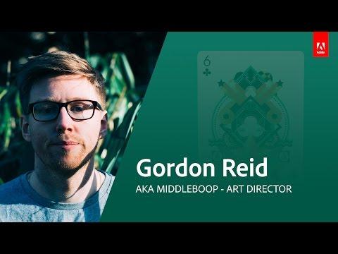Graphic Design with Gordon Reid (aka MiddleBoop) - Adobe Live