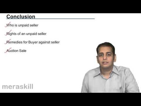 Summary of Unpaid Seller | Unpaid Seller | Sale of Goods Act 1930 | CA CPT | CS & CMA Foundation