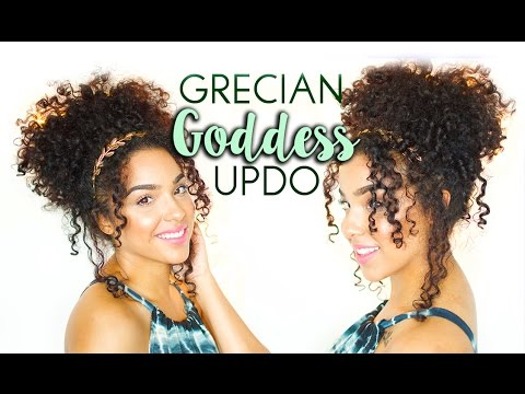 Elegant Grecian Goddess Updo Hair Tutorial For Curly And Natural