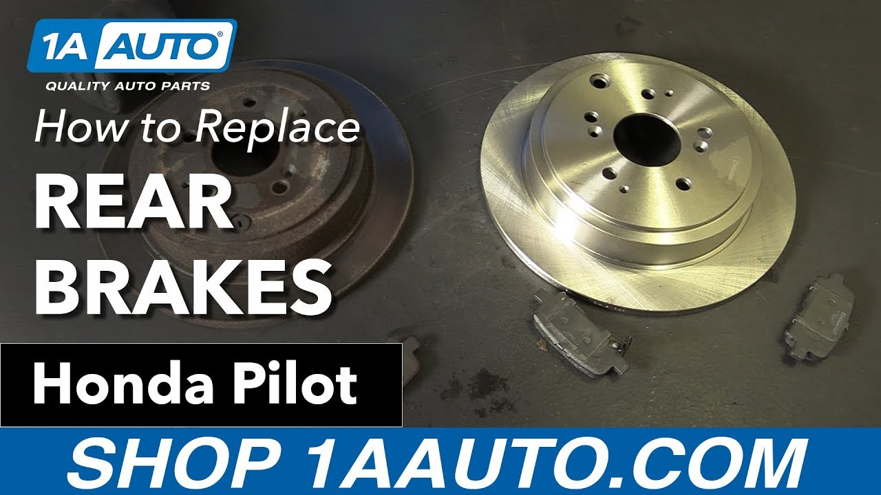 How To Replace Install Rear Brakes 03 08 Honda Pilot Youtube Caption Diagram Of The Basic Front Disc Brake Setup Arotor B