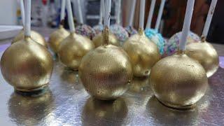 COMO HACER CAKE POPS DORADOS GOLD CAKE POPS