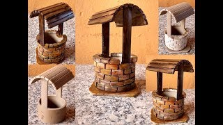 DIY Decoração com Tubo PVC – Mini Poço para Mini Jardim