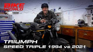 Triumph Speed Triple, the original Streetfighter: 1994 vs 2021