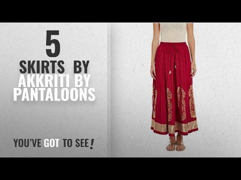 Top 10 Akkriti By Pantaloons Skirts [2018]: Akkriti By Pantaloons Women's Viscose Ghera Skirt