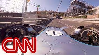 Ride in a Formula E car on the Monaco street circuit - 360 Video